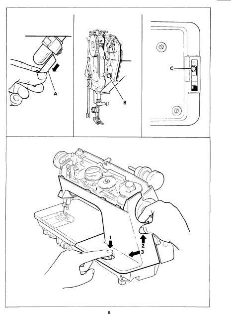 Singer 1030 1036e Sewing Machine Service Manual