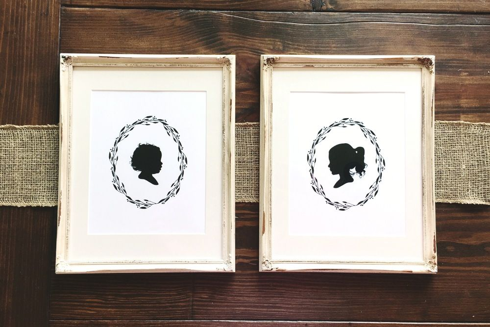 Custom digital silhouette portraits and personalized artwork for children and the home. friend of Lenae Byrd