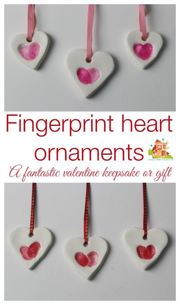 Fingerprint Heart Ornaments Mum In The Mad House Pinterest