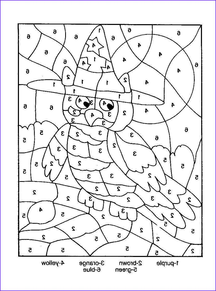 Owl Color By Number Coloring Picture Halloween Coloring Coloring Pages Halloween Coloring Sheets