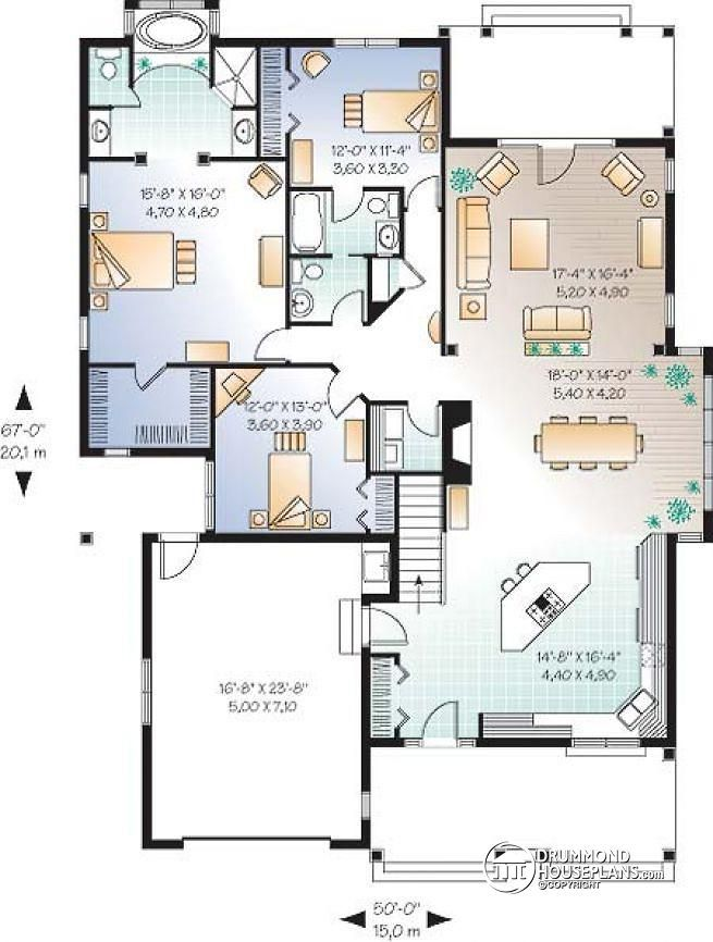 1st Level 9u0027 Ceiling, Large Master Bedroom With En Suite, Open Floor