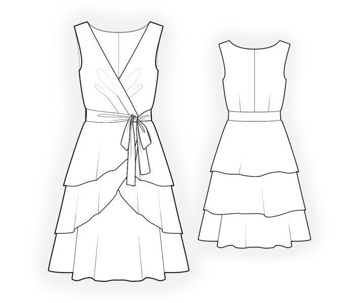 Kleid - Schnittmuster #4547 Maßgeschneiderte Schnittmuster von ...