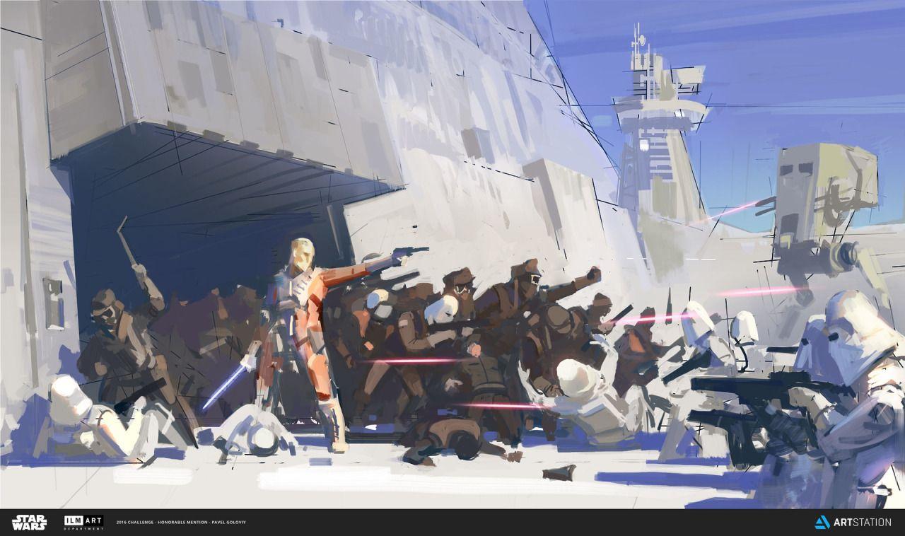 Star Wars art by Pavel Goloviy