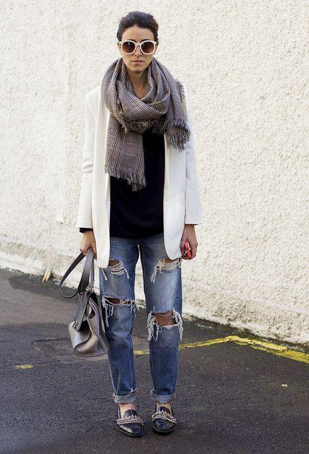 como combinar boyfriend jeans en otoño 2014 [fotos] | ActitudFEM