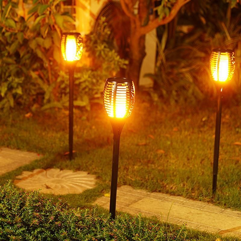 Solar Tiki Torch LED Lights