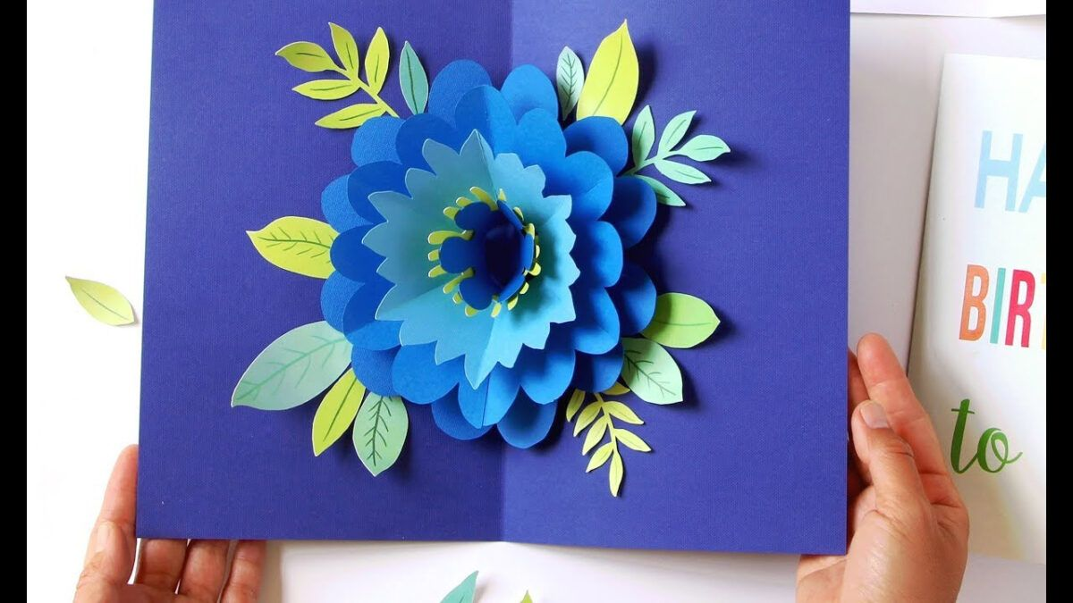Diy happy mothers day card pop up flower free templates