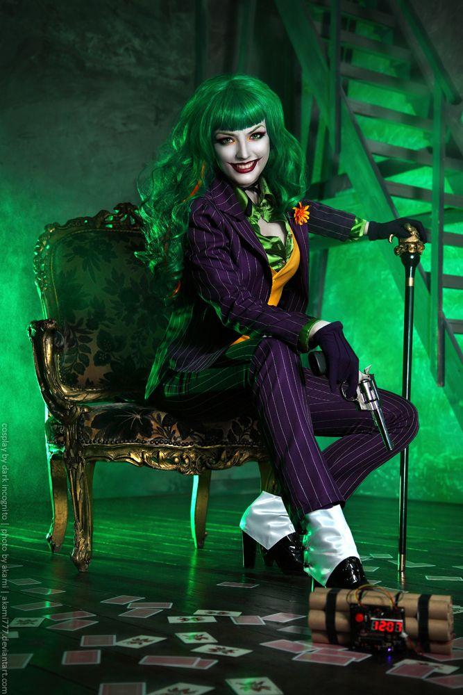 zany joker cosplay by hydraevil dc cosplaycosplay costumeshalloween costumesfemale - Joker Halloween Costume For Females