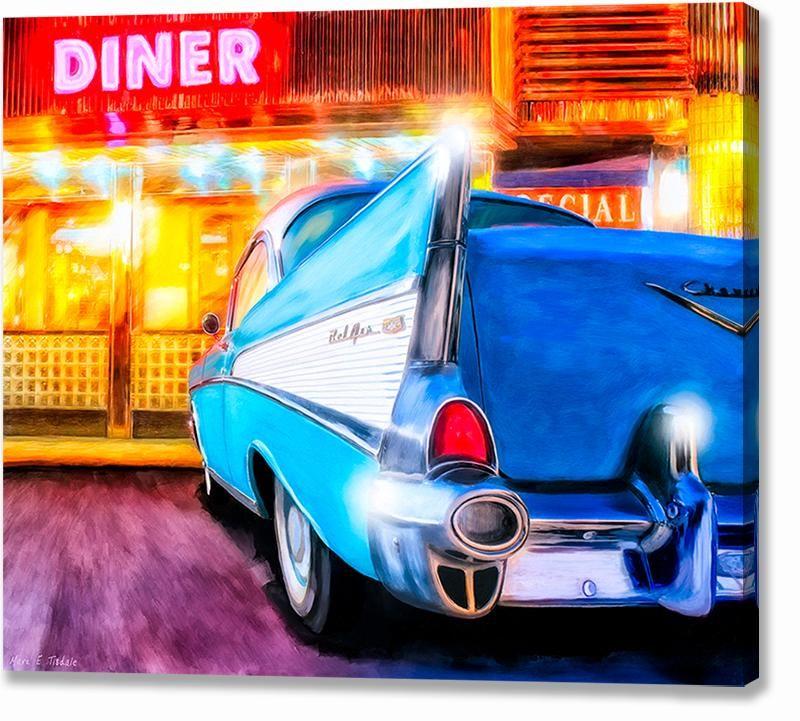 1957 Chevy Tail Fin – Classic Car Metal Print