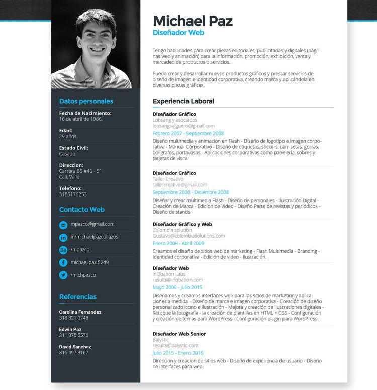 Resume Website Template Resume Template Vector  Free Design Resources  Pinterest