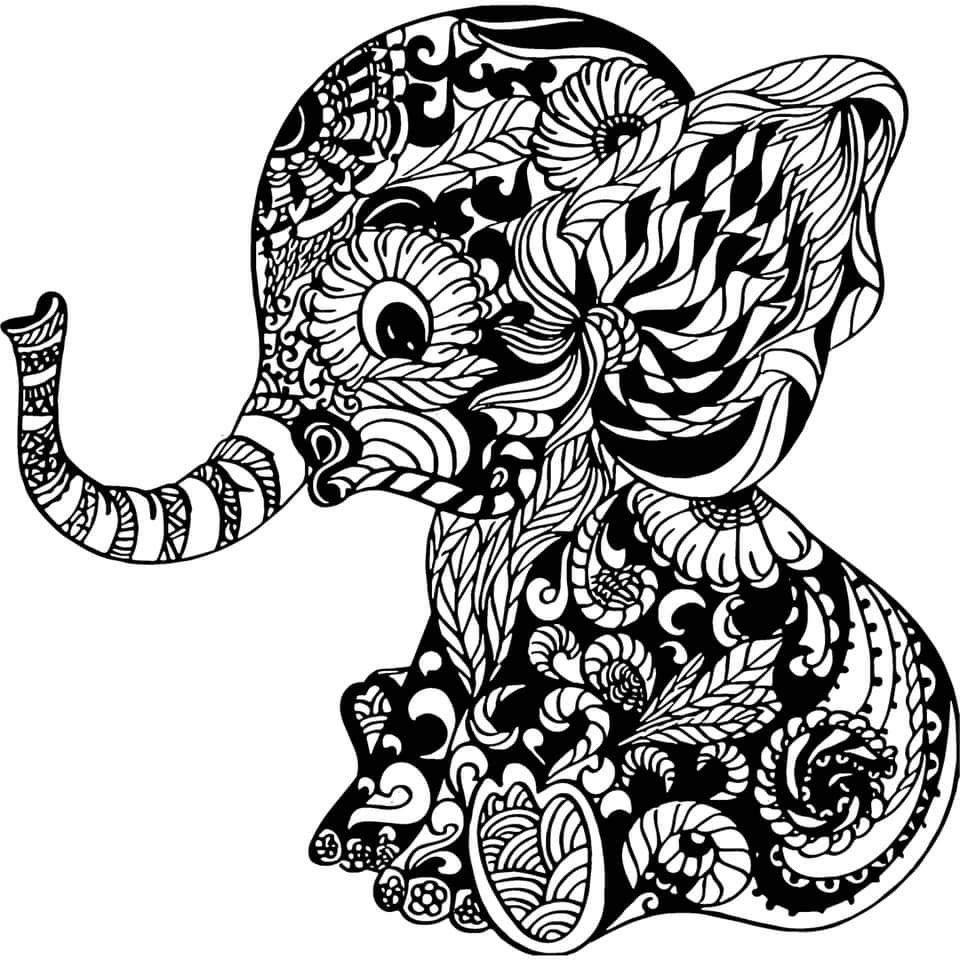 Pin By Effie Ramirez On Cricut Elephant Coloring Page Mandala Elephant Elephant Art
