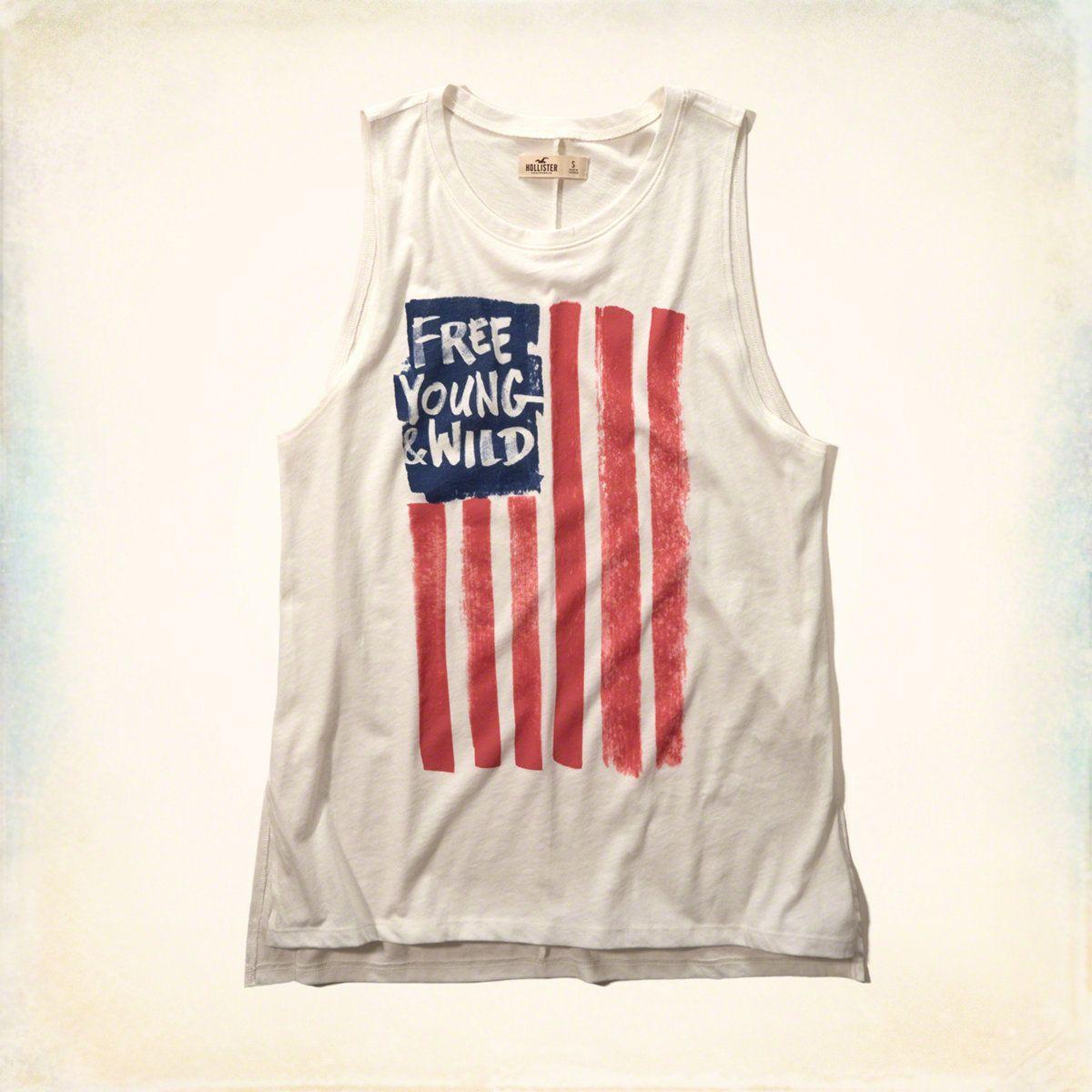 Girls americana graphic muscle tank girls tops