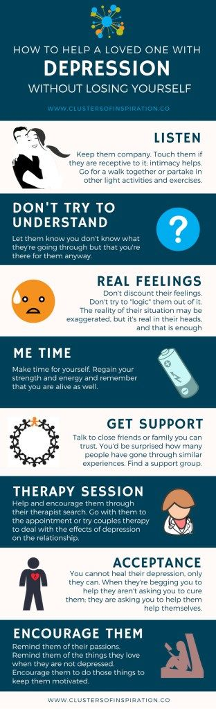 Loving Someone With Depression: 10 Ways to Help Without Losing Yourself - Clusters of InspirationTwitterTwitterTwitterTwitter