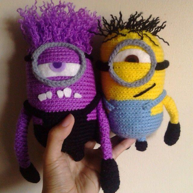 Minions. Purple and yellow one <3. Crochet - Amigurumi | crochet ...