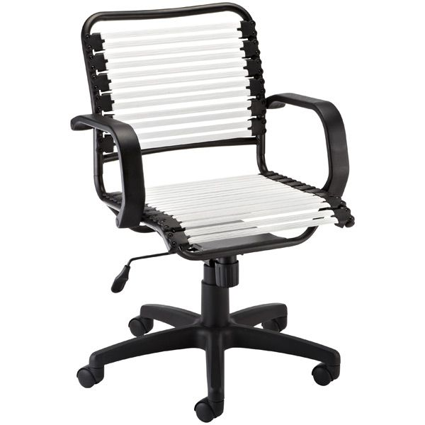 Black Flat Bungee Office Chair With Arms Outdoor Dining Chair