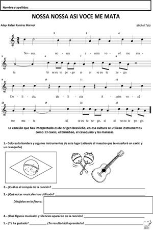 NOSSA para flauta dulce …   Partituras, Musica partituras