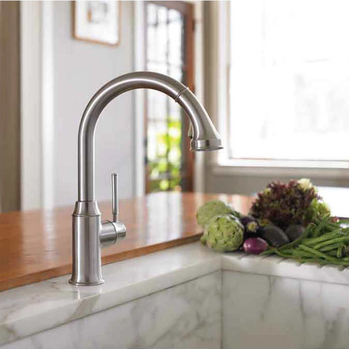 finish kitchen hansgrohe allegro faucet e images grohe five faucets secrets cento you know the of steel new in optik will chrome never about