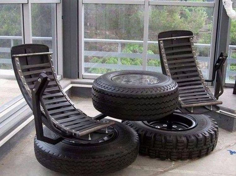 Fantastisch Alte Reifen, Selbermachen, Recycelte Reifen, Möbel Selber Bauen,  Umfunktioniert, Coole Ideen