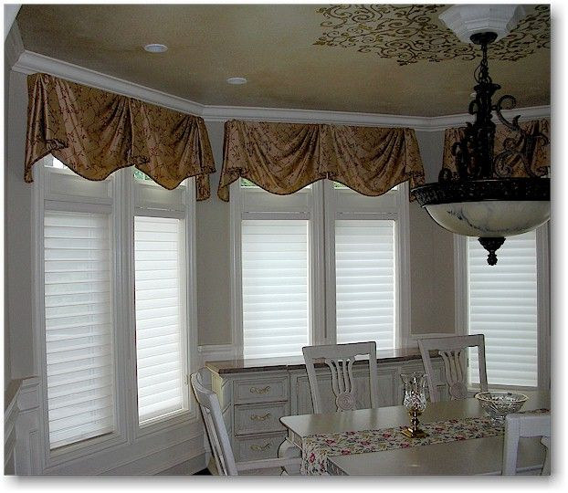 Kingston Valances In Woven Silk Pattern With Hunter Douglas