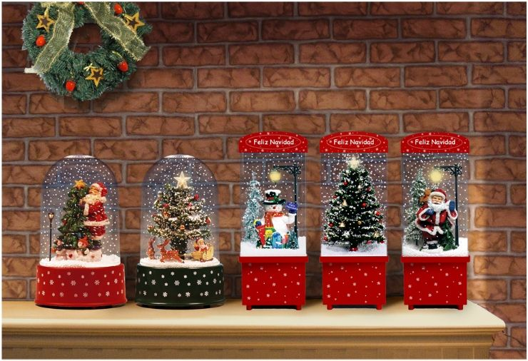 Snow Scene Polyresin Doll Wholesale Christmas Decoration Christmas Tree And Santa Claus Snowing Ch House Gifts Santa Claus Christmas Tree Christmas Decorations