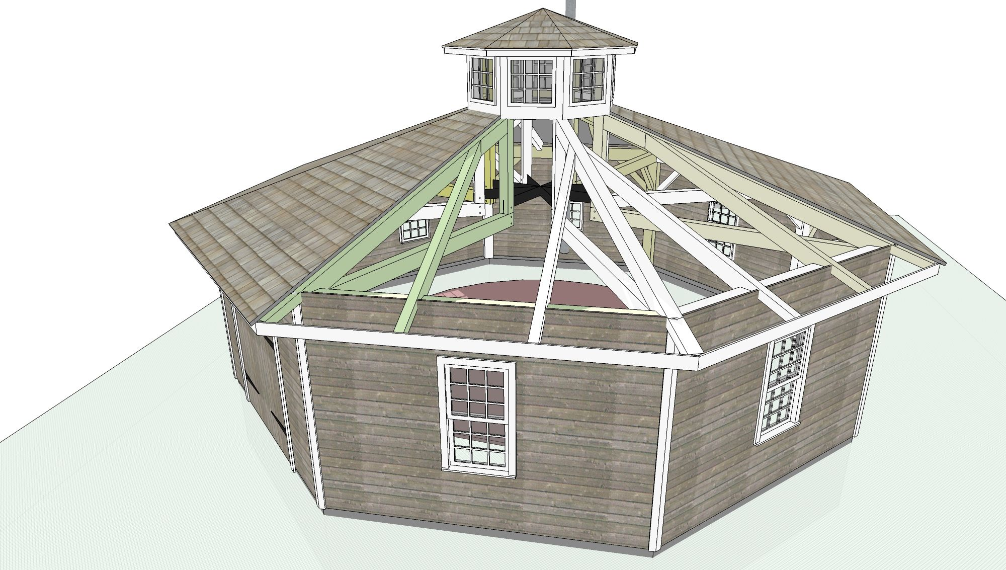 Octagon house plans build yourself octagon building for House framing plans