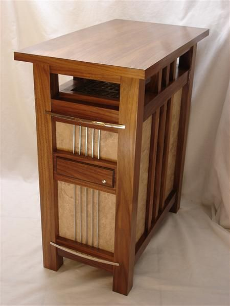 Black Walnut Mission Style Side Table Computer Computer Table Decorative Panels Mission Style