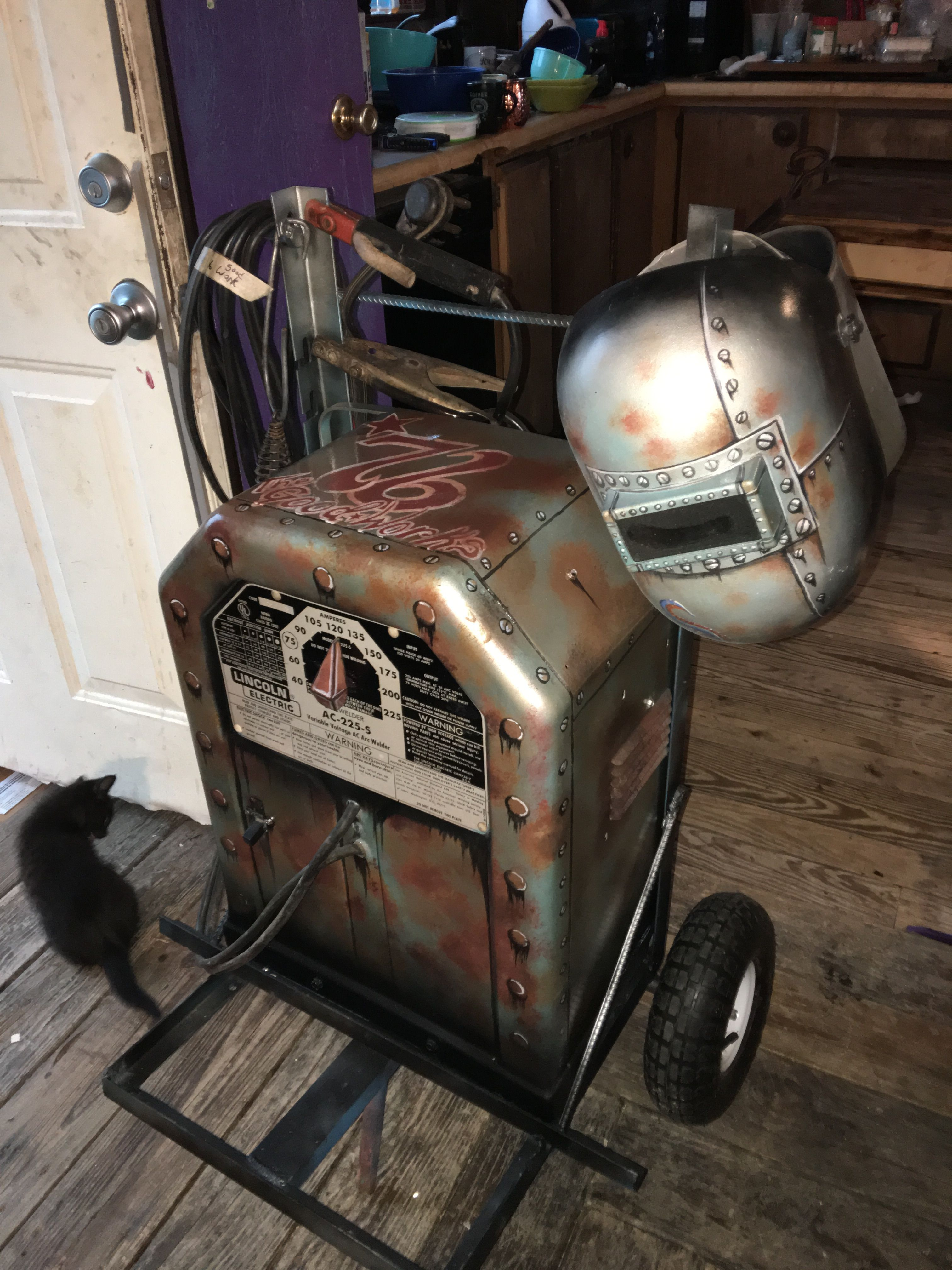 hight resolution of custom painted stick welder lincoln welder ac 225 s tombstone buzz box custom lincoln welder kolby austin