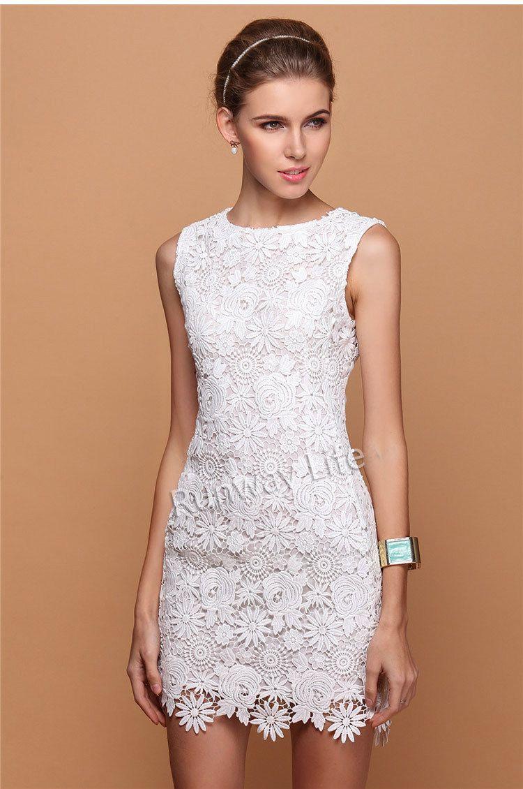 patron de vestidos tejido a crochet encaje de ganchillo flor ...