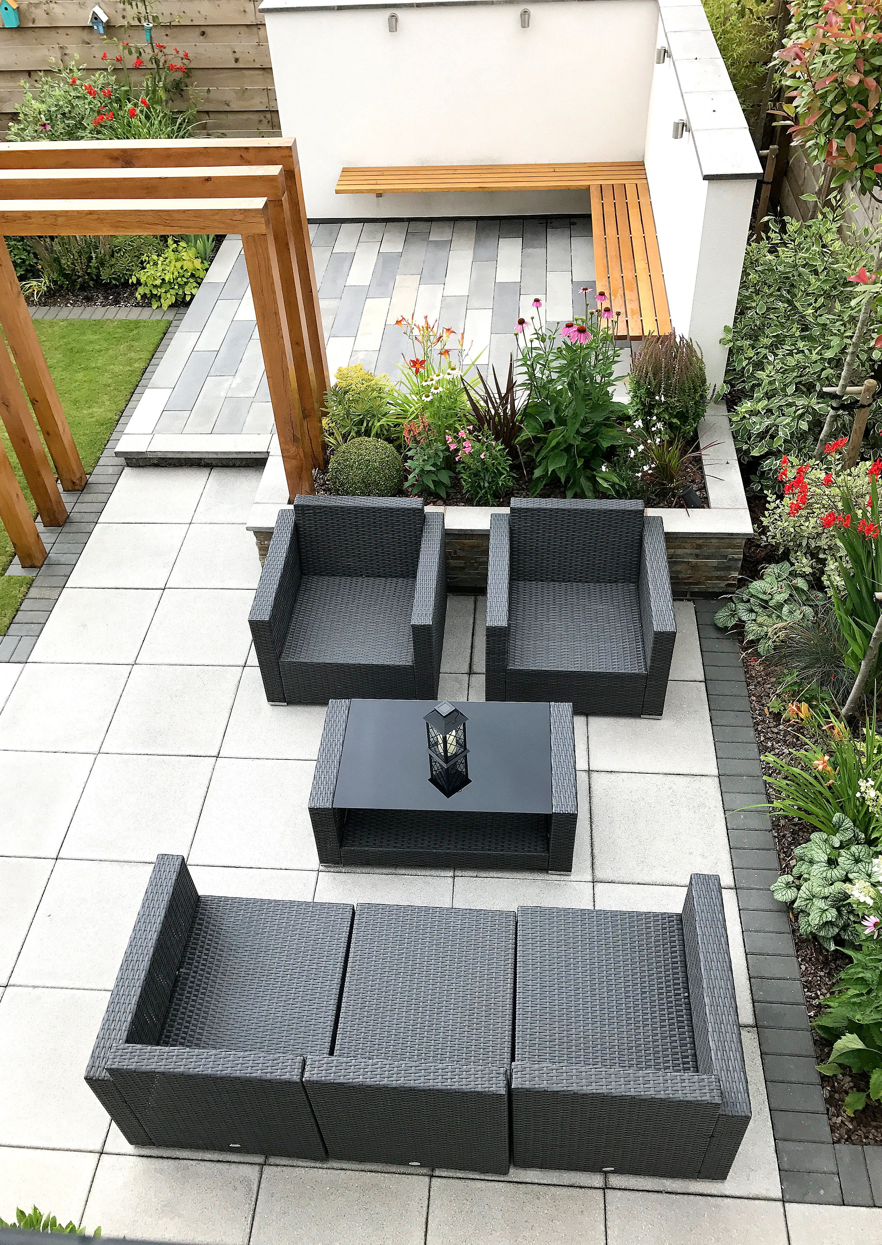 A Modern New Build Garden With Outdoor Entertaining Space For Our Clients In North Nottinghamshire New Build Garden Ideas Garden Ideas Uk Garden Design Layout