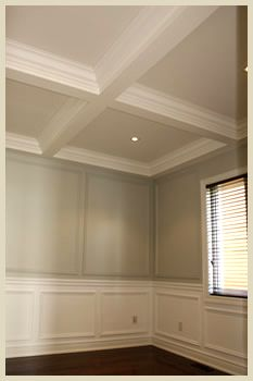 Waffle Ceilings For The Diningliving Room Home Garden - Cornice crown moulding toronto wainscoting coffered ceiling