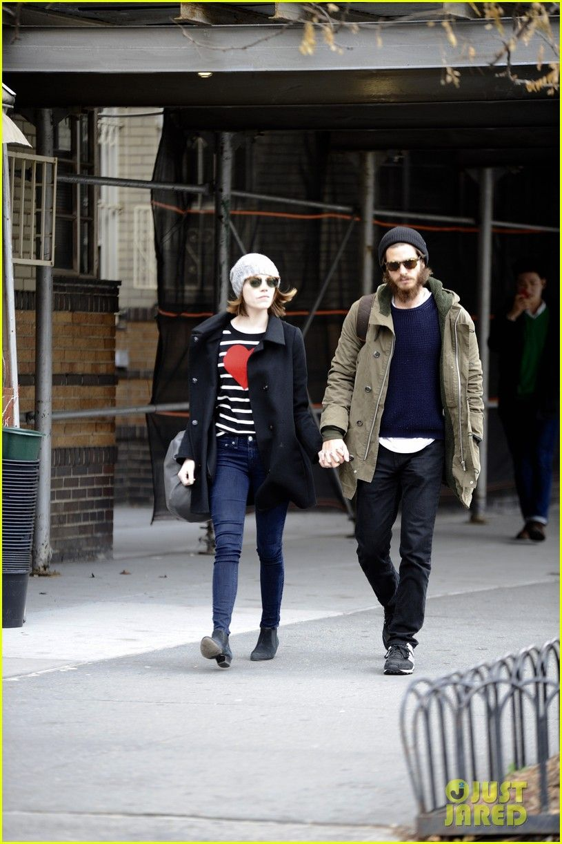 Emma Stone & Andrew Garfield Get Some Alone Time Before Her 'Cabaret' Performance
