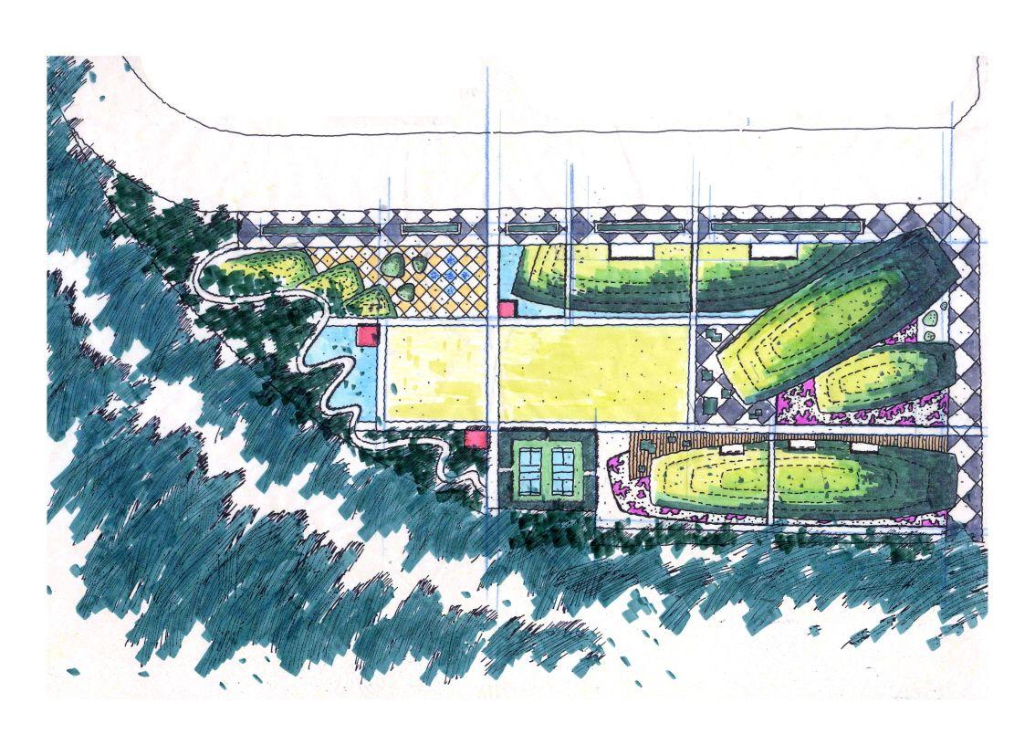 Urban Park Masterplan Drawing Gardening Design Diy Landscape Plan Landscape Design Drawings