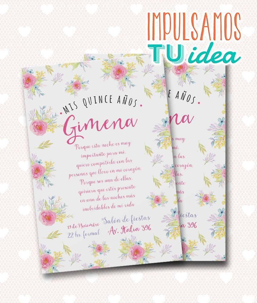 Tarjeta De 15 Invitación De 15 Para Imprimir Invitaciones Tarjeta De Cumple Tarjeta