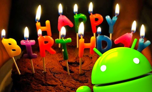Prima Pagina App android, Compleanno, Androide