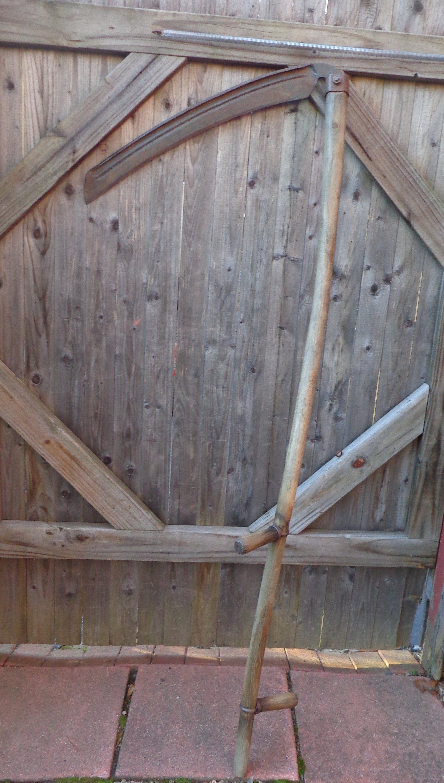 Vintage Scythe/ Sickle Hay Farm Garden Tool or Barn-Store-Shop Decor, Grim Reaper Decor,  #BarnStoreShop #Decor #farm #garden #Grim #Hay #Reaper #Scythe #Sickle #tool #vintage #vintagegardeningtoolsforsale