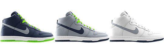 timeless design 8cfeb 42ed0 Nike Dunk High (NFL Seattle Seahawks) iD