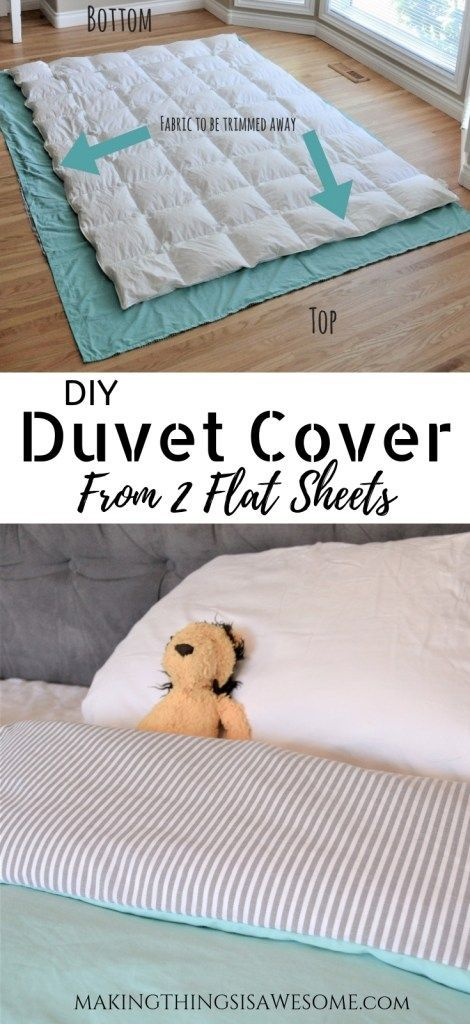 DIY Duvet Cover From Flat Sheets! - Tutorial #beginnersewingprojects