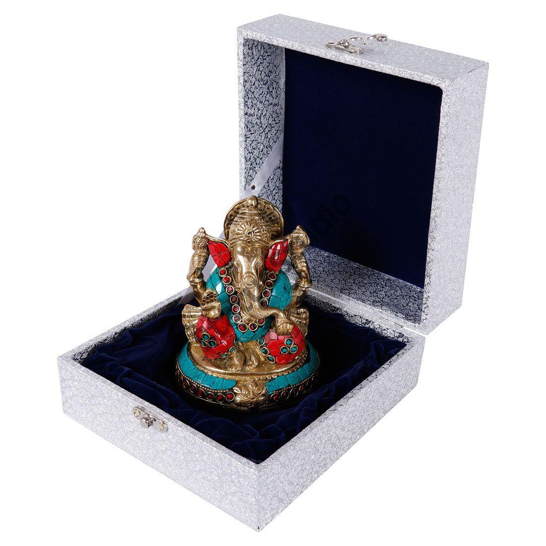 Brass Ganesha Ganpati Wedding Return Corporate Diwali Gift