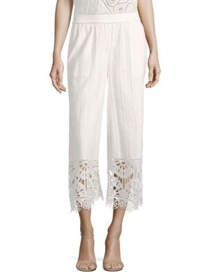 OPENING CEREMONY Broderie Anglaise Cotton Culottes. #openingceremony #cloth #culottes