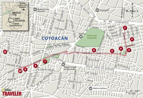 Mexico City Walking Tour Coyoacn and San Angel National