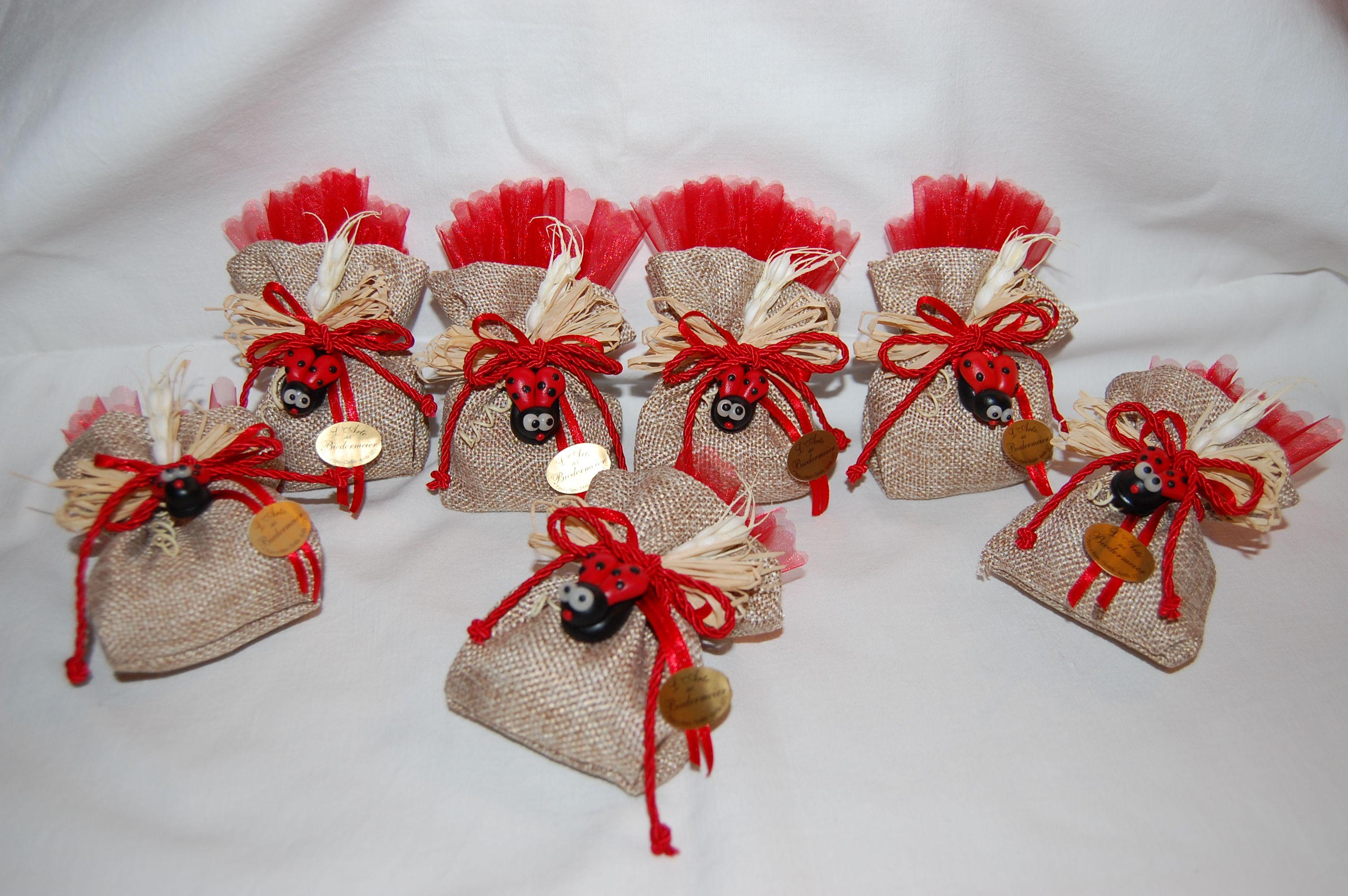 Bomboniere Per Festa Di Laurea Con Coccinelle In Pasta Di Mais Fai Da Te E Hobby Idee Per Confezioni Bomboniere