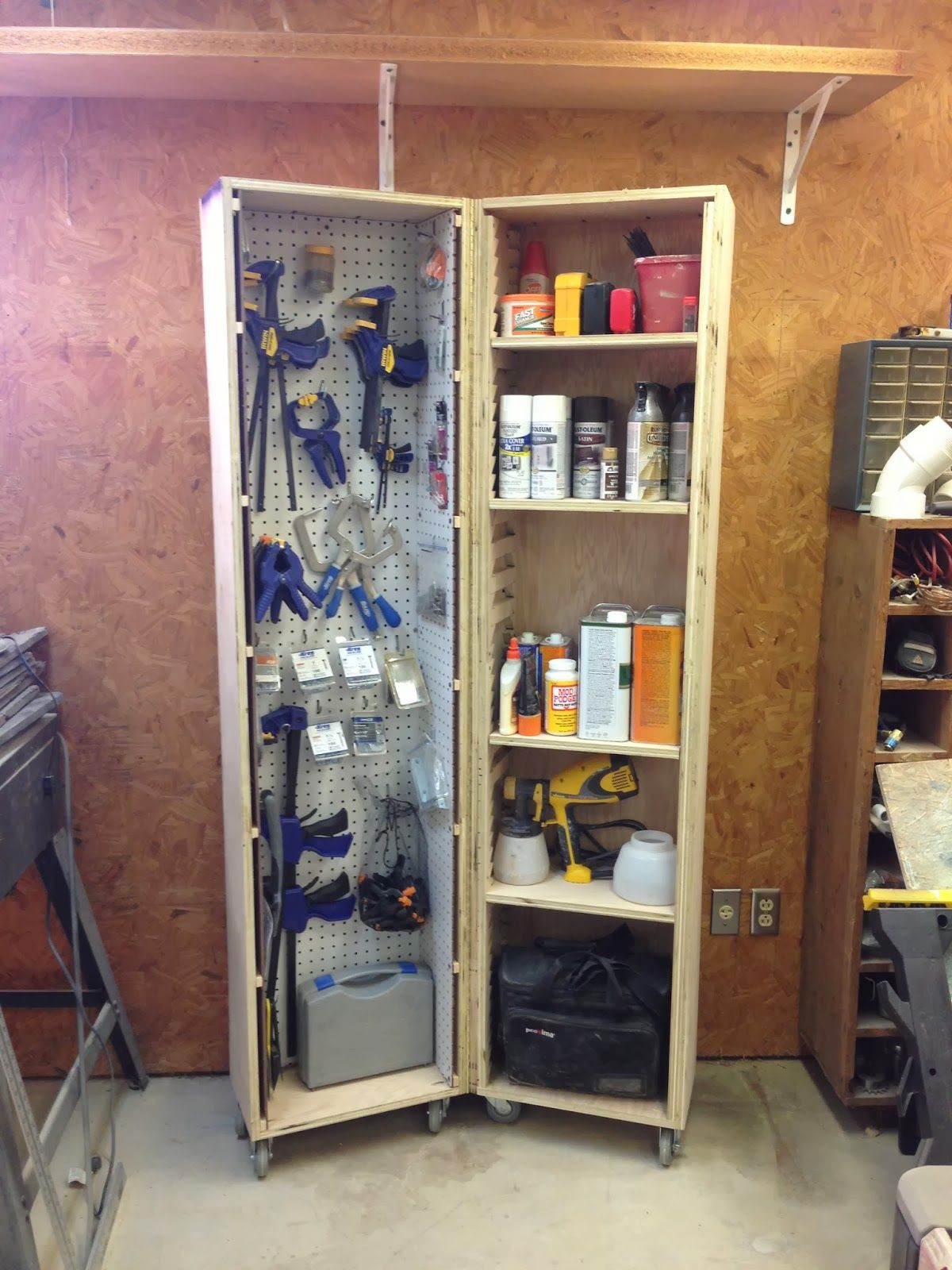 Garage Cabinets By George Wilker Do S Diy Rolling Storage Cabinet Organization Garage