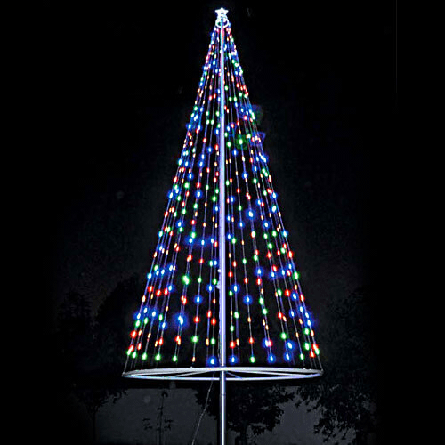 Flagpole Christmas Tree Lights Flagpole Christmas Tree Light Led Lighting Holiday Festive Christmas Tree Kit Christmas Tree Lighting Led Christmas Tree