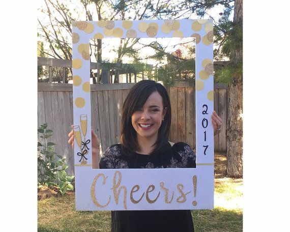New Years Party Photo Booth Prop Giant Picture Frame For Photo