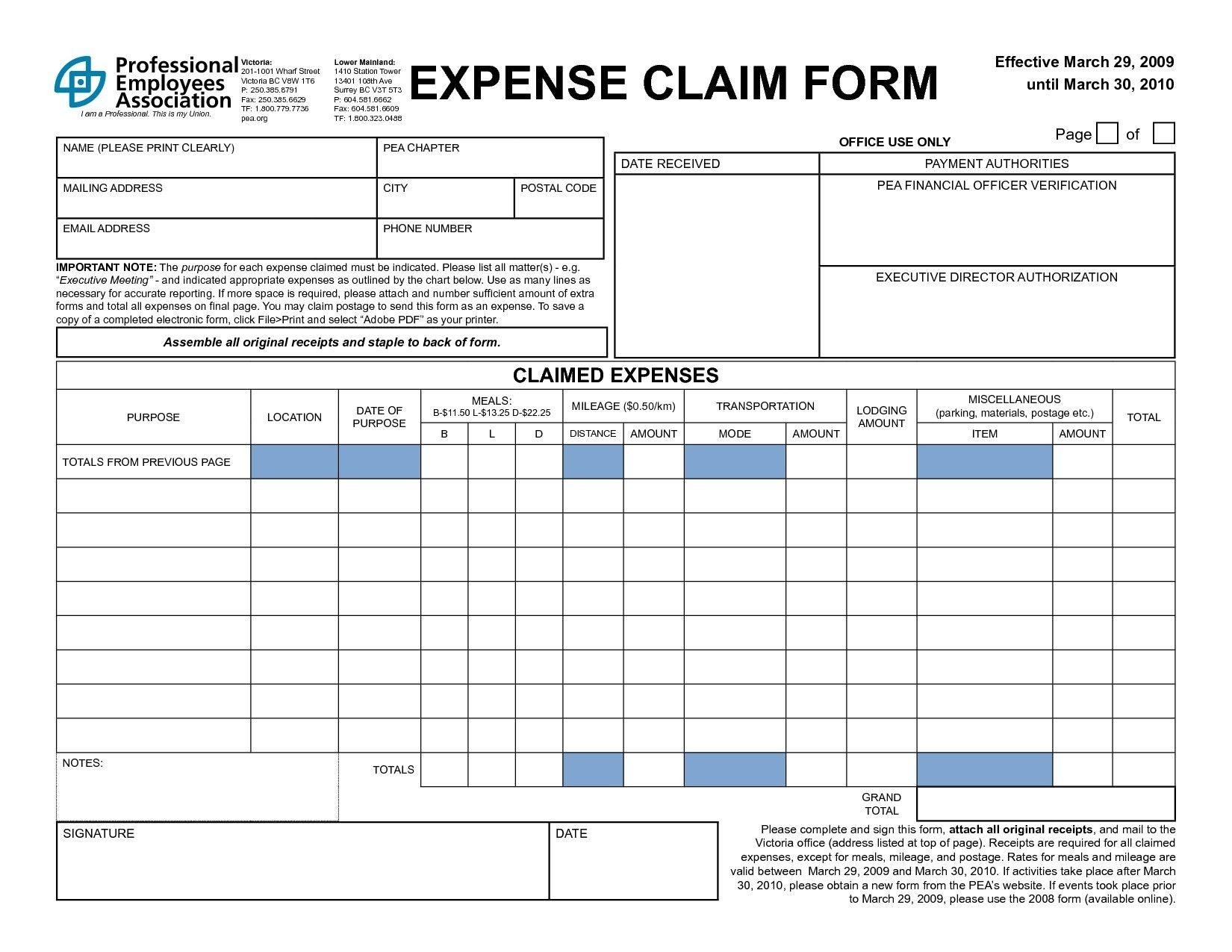 New Travel Expense Form Template Exceltemplate Xls Xlstemplate