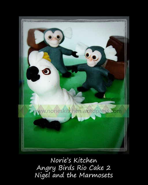 Norie S Kitchen Angry Birds Rio Cake 2 Nigel And The Marmosets