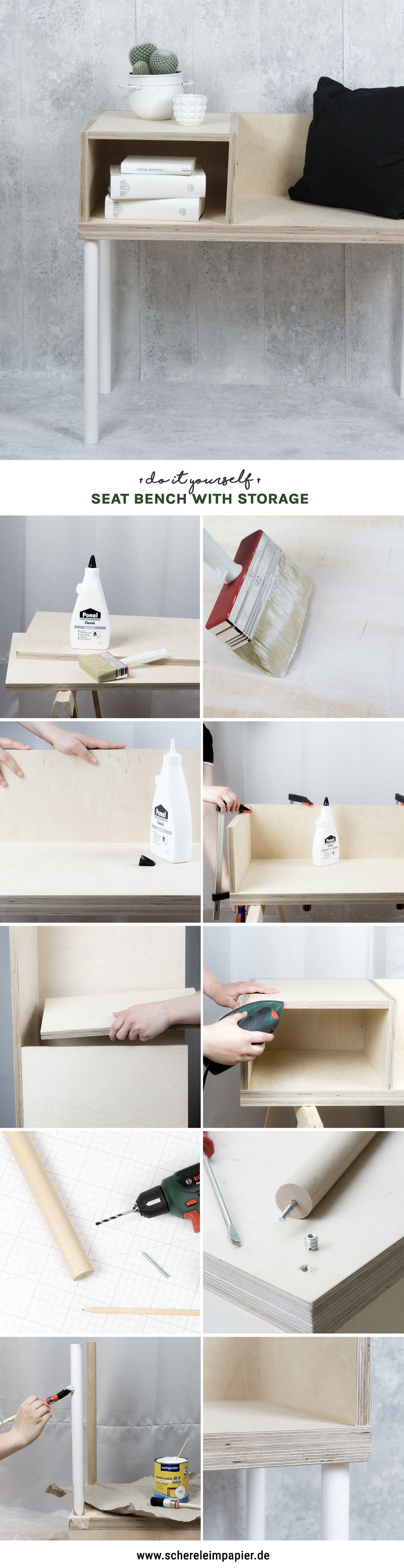 Einfaches wohnmöbel design so einfach lässt sich eine diy sitzbank selber bauen  bricolage