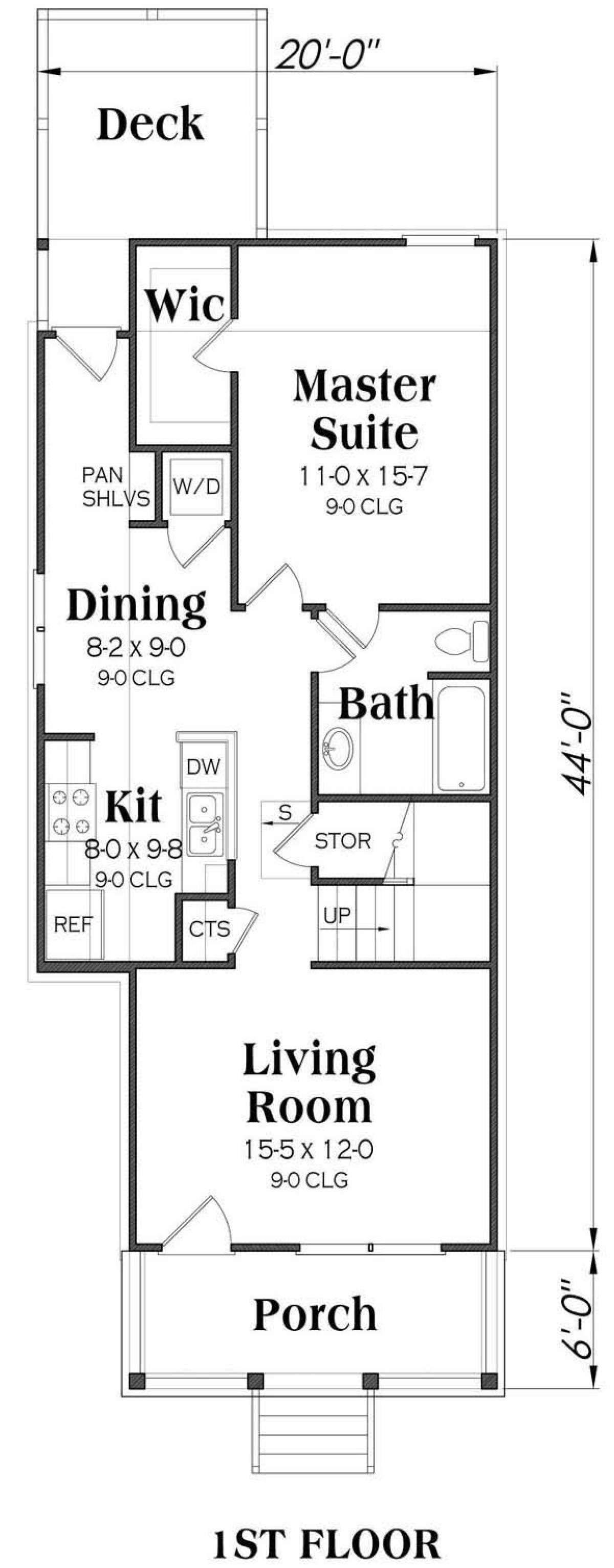 House Plan 00900141 Bungalow Plan 1,400 Square Feet, 3