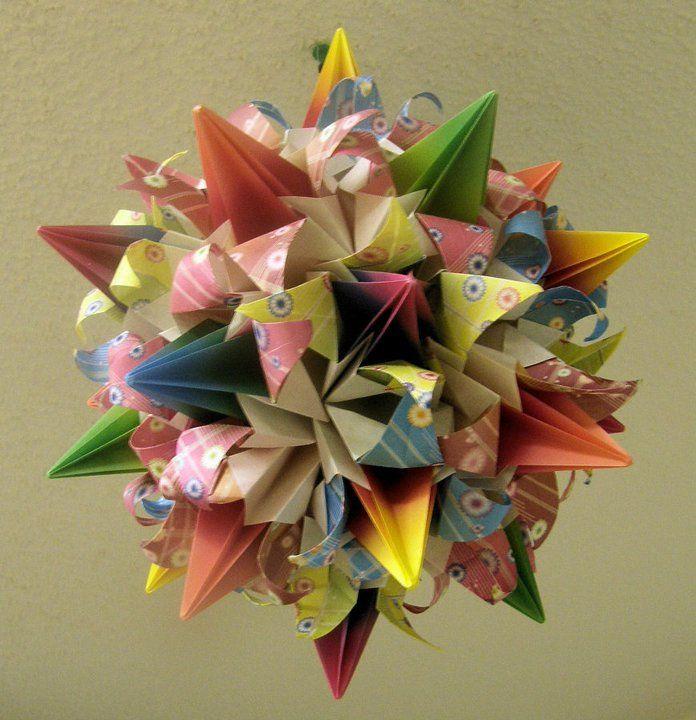 Origami flower ball origami pinterest flower ball origami and origami flower ball mightylinksfo