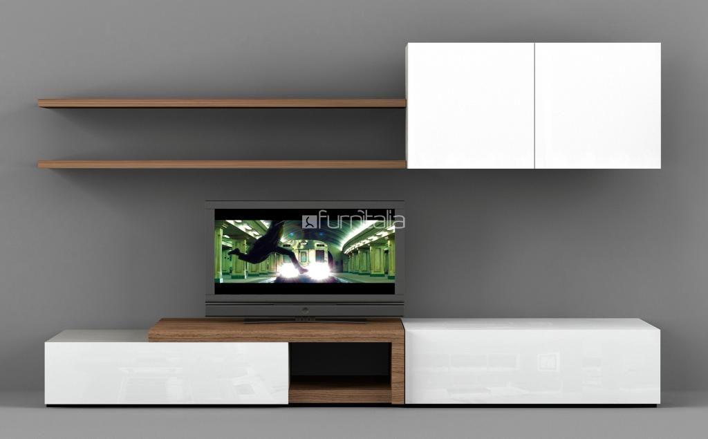 novecento wall unit - entertainment / media / wall units - natuzzi