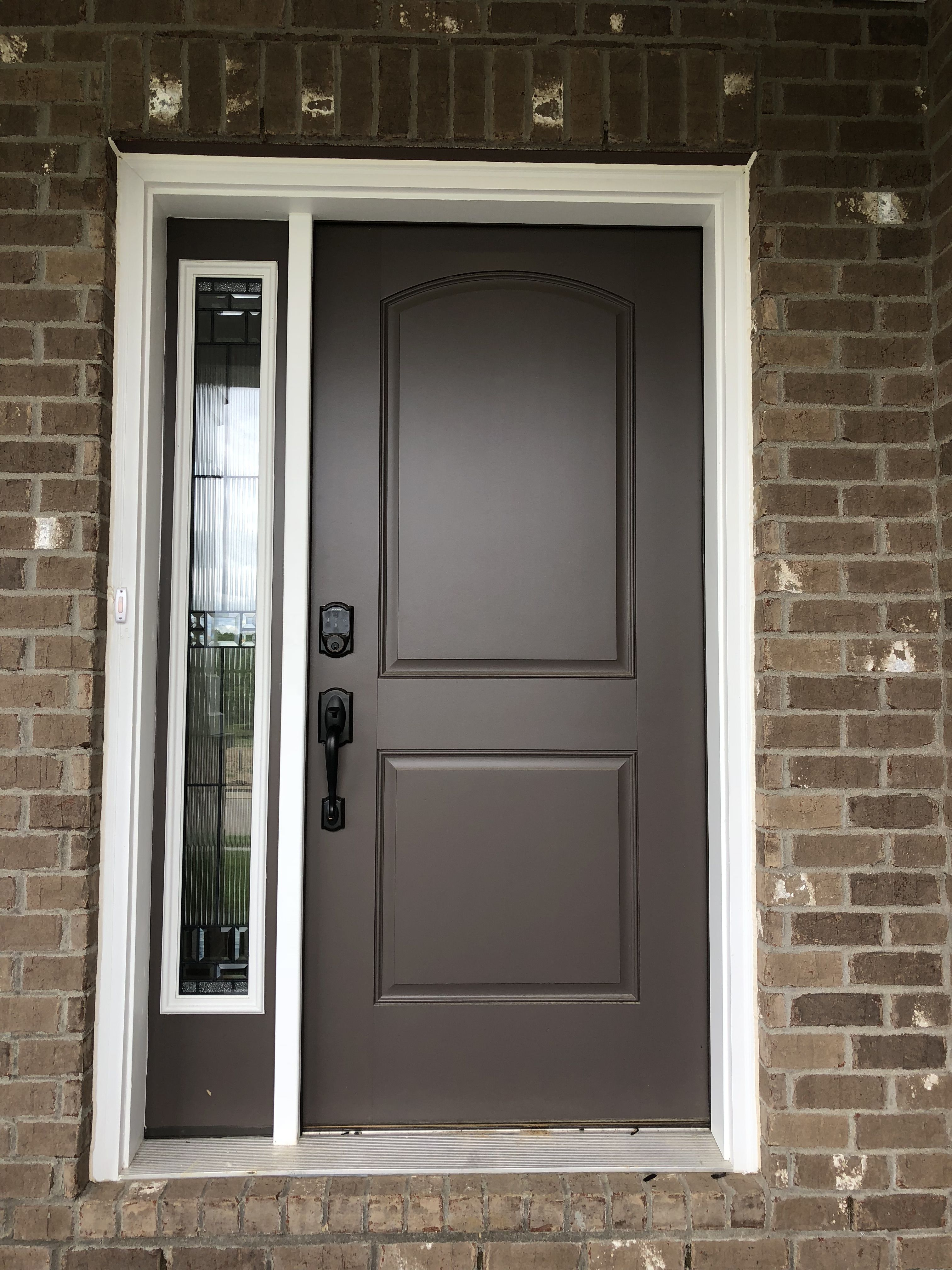S200 2 Panel Arched Top Front Door Painted Sw7505 Manor